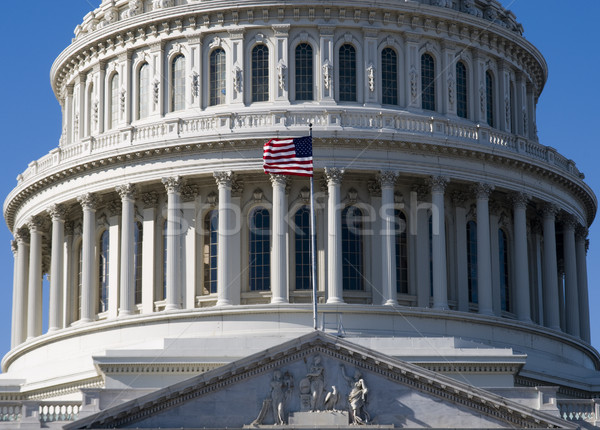 Edifício pormenor Capitólio Washington DC céu casa Foto stock © tmainiero