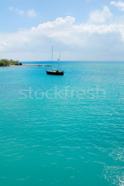 Sailboat in the Caribbean Stock photo © tmainiero