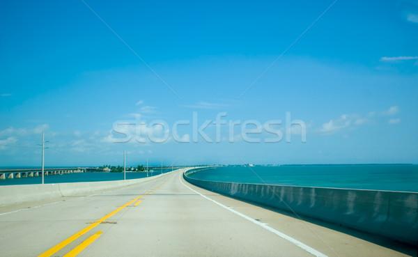 フロリダ キー 橋 道路 美しい 青 ストックフォト © tmainiero