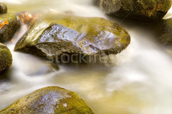 Waterval groot rokerig bergen water Stockfoto © tmainiero