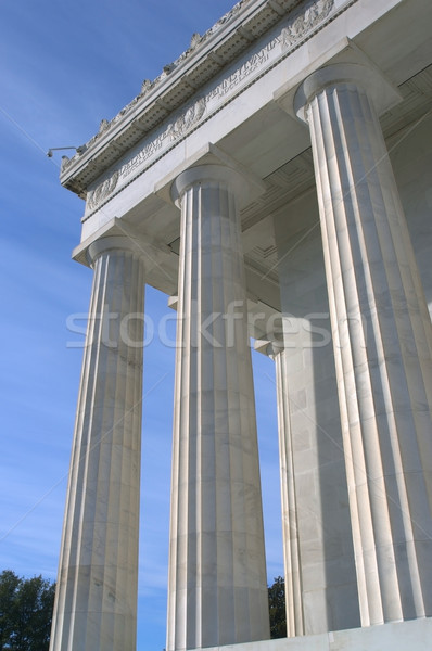 Lincoln Memorial Columns Stock photo © tmainiero