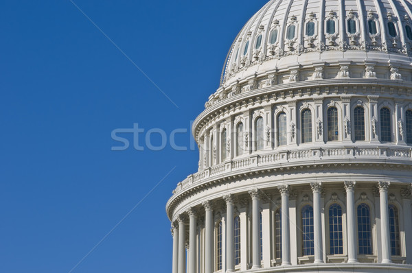 Budynku szczegół Stany Zjednoczone Capitol Washington DC kopia przestrzeń niebo Zdjęcia stock © tmainiero