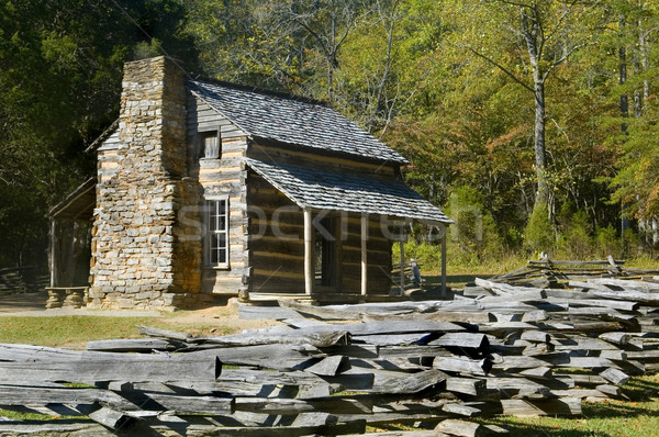 Log Cabin, Cades Cove, Great Smoky Mountains National Park Stock photo © tmainiero