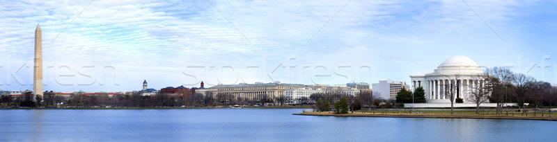 Washington DC panoramik güzel görmek su gün batımı Stok fotoğraf © tmainiero