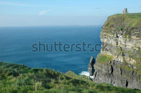Irlandais château tour nuages mer Photo stock © tmainiero