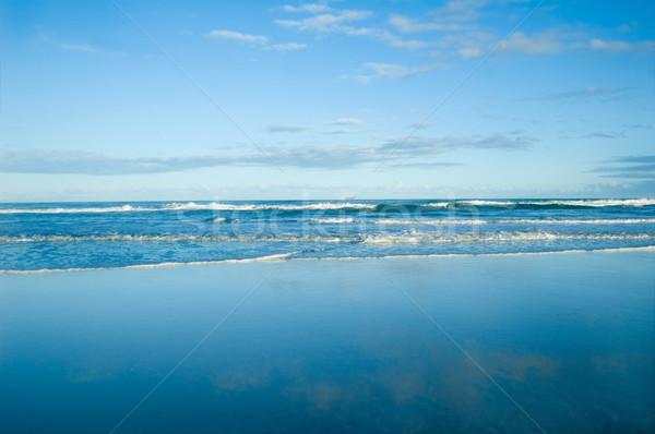 Okyanus sörf güzel canlı mavi gökyüzü gökyüzü Stok fotoğraf © tmainiero
