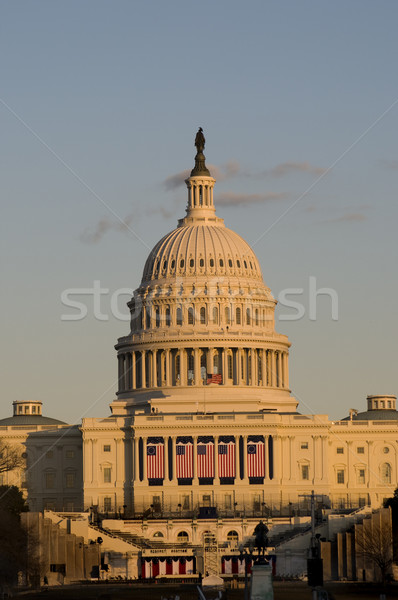 Stany Zjednoczone Capitol budynku piękna wygaśnięcia oświetlenie domu Zdjęcia stock © tmainiero