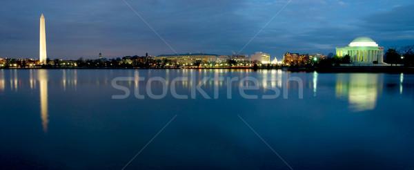 Washington DC panoramique belle vue nuit eau Photo stock © tmainiero