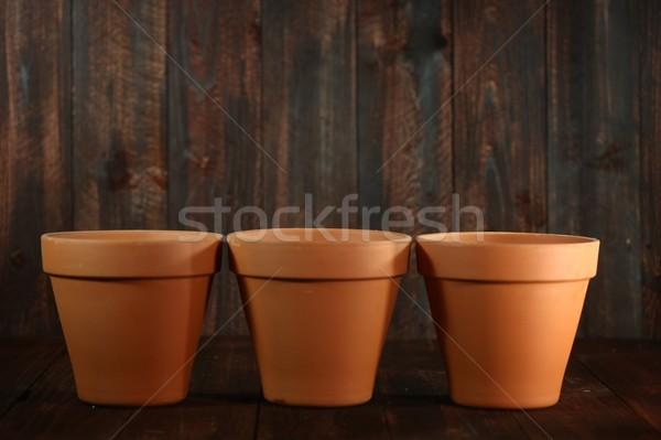 空っぽ 粘土 花 3  建設 抽象的な ストックフォト © tobkatrina