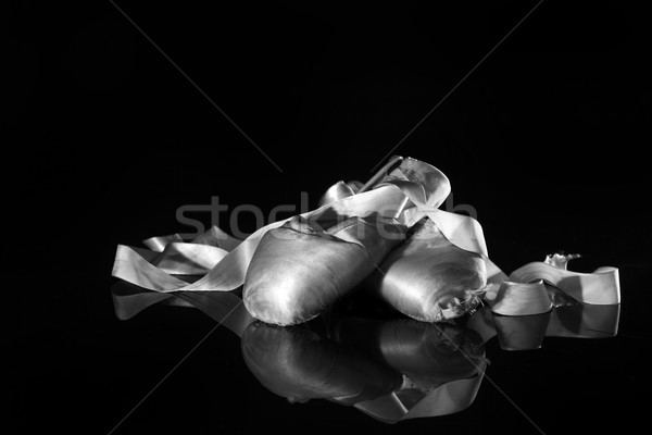 Lightpainted Pair of Ballet Pointe Shoes Stock photo © tobkatrina