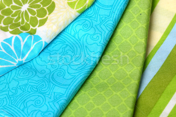 Blue and Green Colorful Palette of Fabric Stock photo © tobkatrina