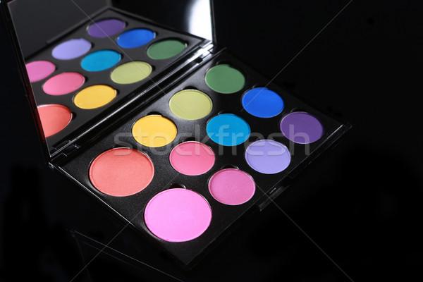 Színes paletta különböző fekete fényes szín Stock fotó © tobkatrina