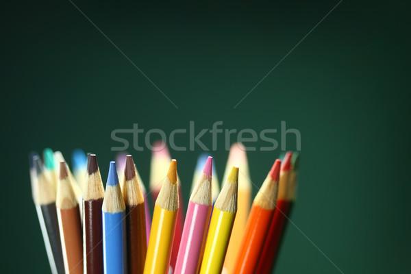 学校 鉛筆 極端な フィールド ストックフォト © tobkatrina