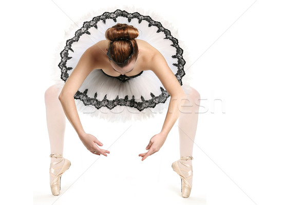 Ballet Dancer in Traditional Pancake Performance Outfit Stock photo © tobkatrina