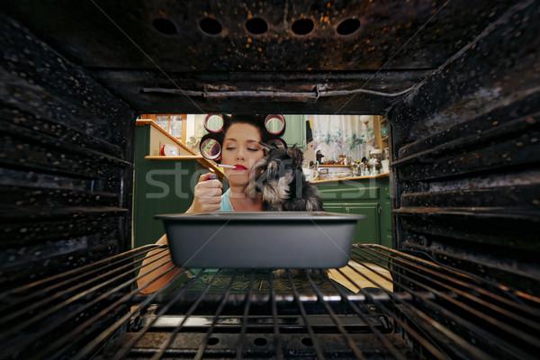 1950 ère ménagère tous les jours Photo stock © tobkatrina