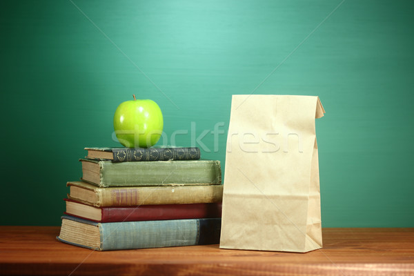 Green Back to School Themed Background Image Stock photo © tobkatrina