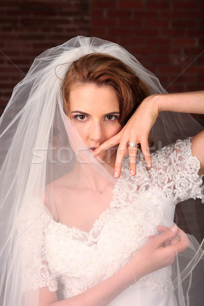 Portrait of a Young Bride Getting Married Stock photo © tobkatrina