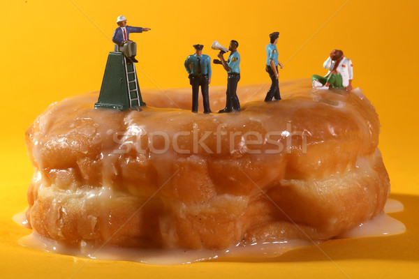 Polis gıda minyatür mavi Stok fotoğraf © tobkatrina