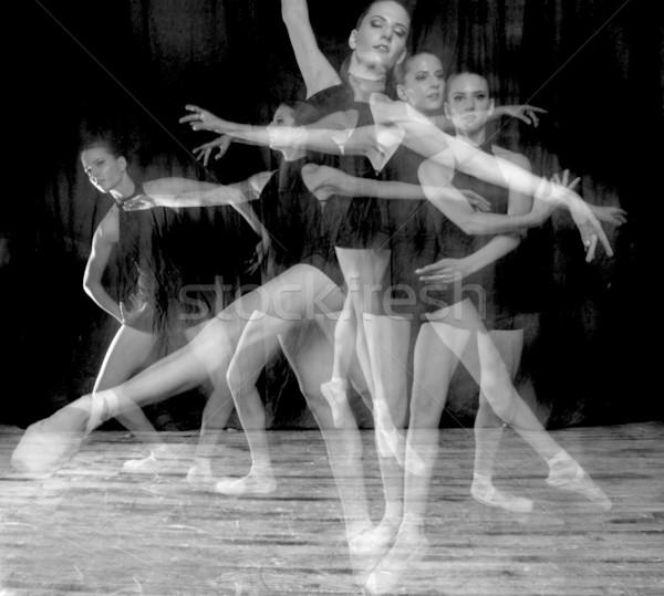 Ballerina in Studio On Pointe Stock photo © tobkatrina