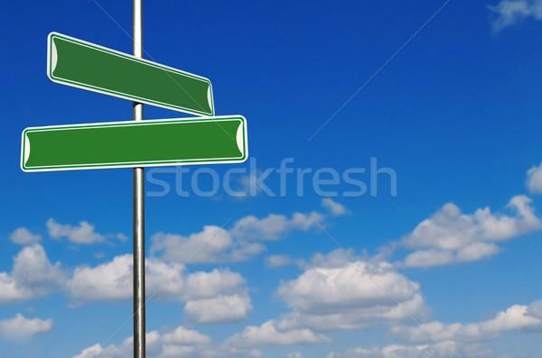 緑 通り 名前 標識 明るい 青空 ストックフォト © tobkatrina