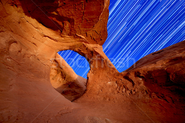 Desert Arch Star Trails Stock photo © tobkatrina
