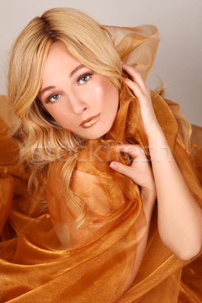 женщину медь ткань красивая женщина девушки Сток-фото © tobkatrina