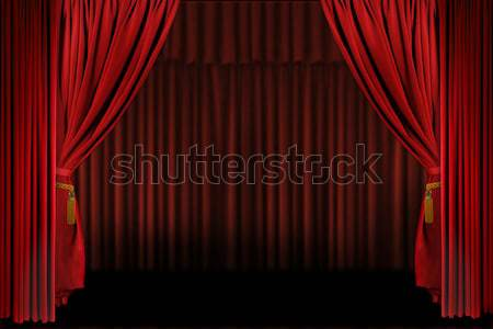 Red Draped Stage Background Stock photo © tobkatrina
