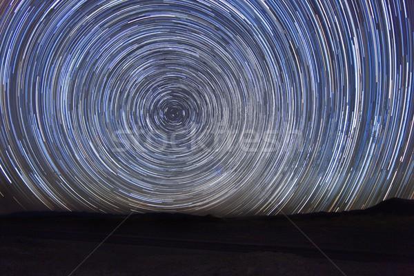 éjszaka kitettség csillag égbolt örvény Stock fotó © tobkatrina