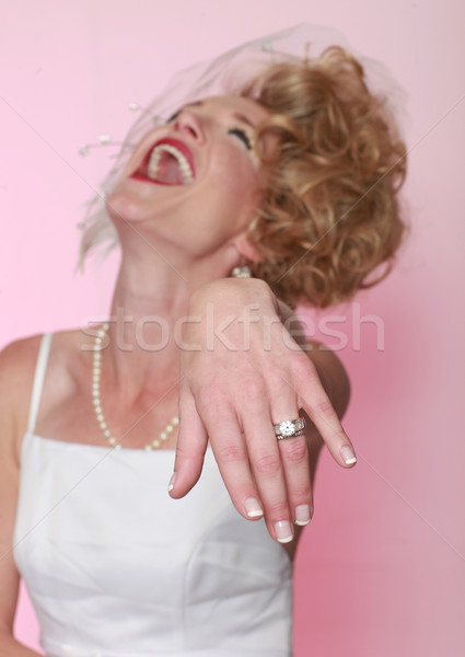 Portrait of a Young Woman Getting Married Stock photo © tobkatrina
