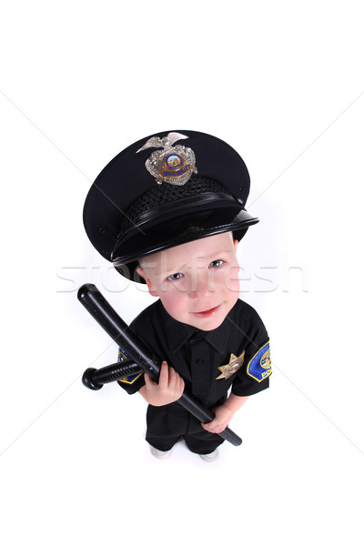 Adorable Image of a Child Police Officer  Stock photo © tobkatrina