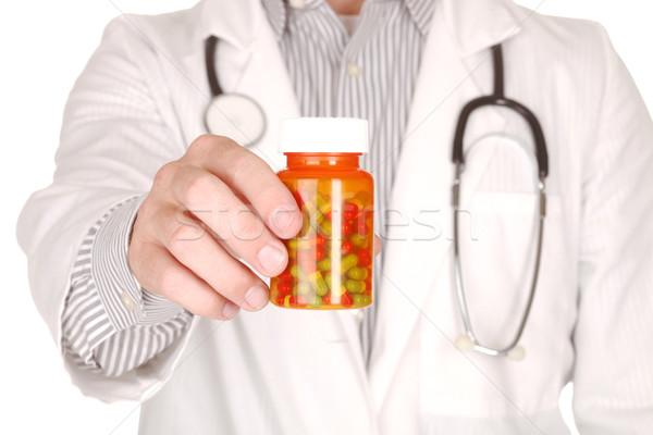 Médico prescrição garrafas bonito médico Foto stock © tobkatrina