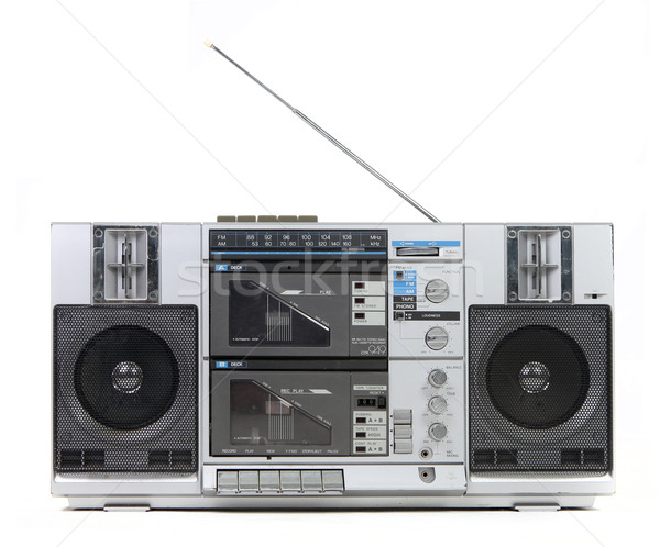 Front View of a Vintage Boom Box Cassette Tape Player  Stock photo © tobkatrina