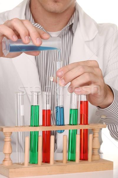 Caucasian Scientist At Work Using the Scientific Method Stock photo © tobkatrina