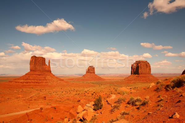 Valle Arizona nación EUA nubes naturaleza Foto stock © tobkatrina