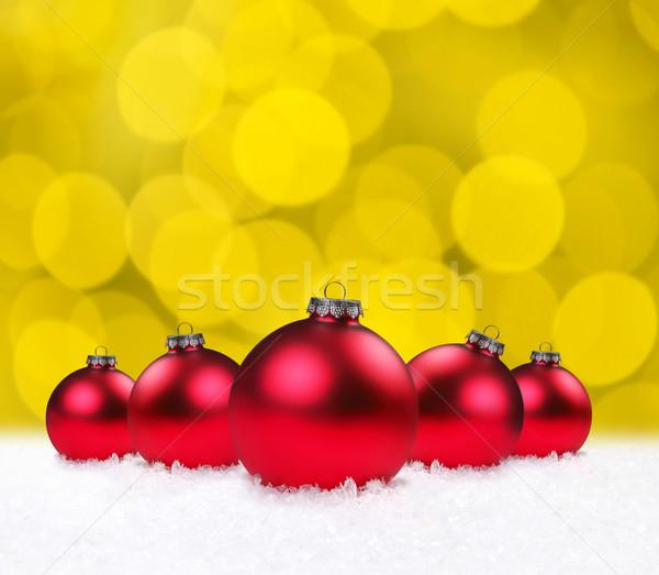 クリスマス 休日 安物の宝石 赤 背景 ぼかし ストックフォト © tobkatrina