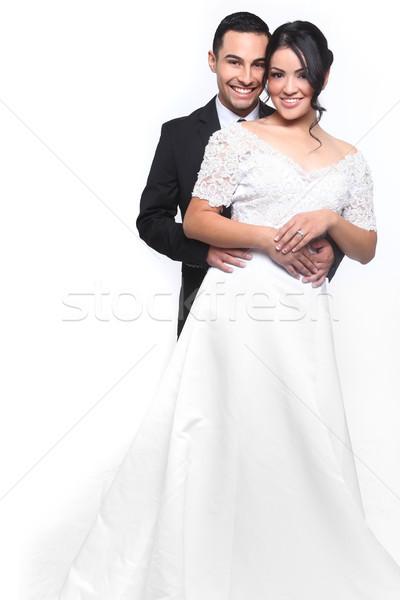 幸せ 結婚式 カップル 愛 美しい 花 ストックフォト © tobkatrina