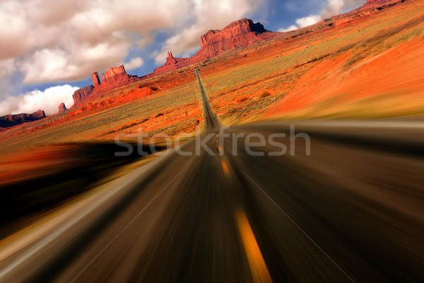Dramatic Monument Valley Arizona Mile 13 View Stock photo © tobkatrina