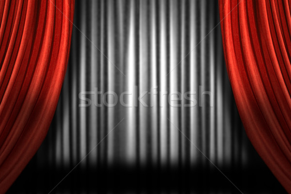 Horizontal Stage Drapes  Stock photo © tobkatrina