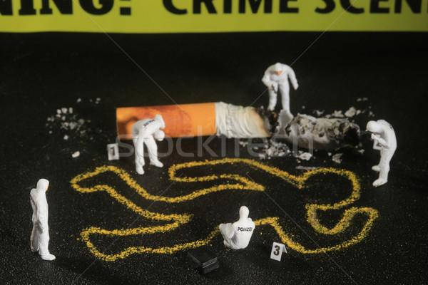 Minúsculo miniatura personas curioso conceptos policía Foto stock © tobkatrina