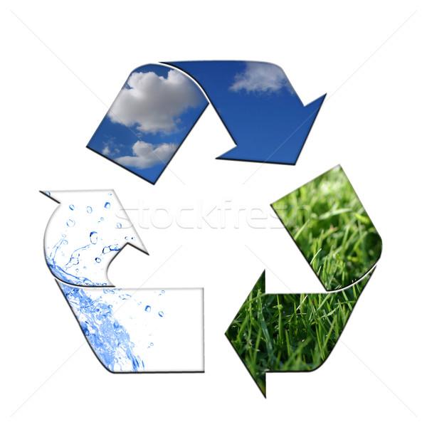 環境 クリーン リサイクル 抽象的な シンボル 空気 ストックフォト © tobkatrina