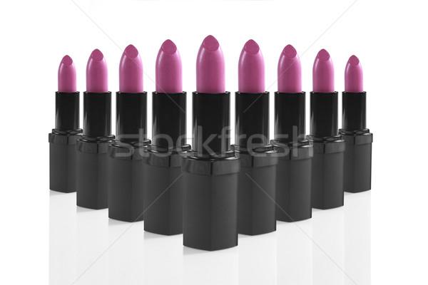 Colorful Lipsticks Lined up Perfectly Stock photo © tobkatrina