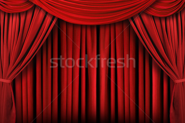 Abstract Red Theatre Stage Drape Background Stock photo © tobkatrina