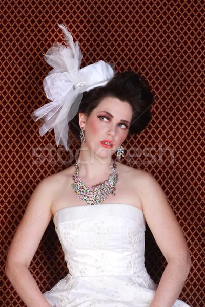Dramatic Wedding Fashion on a Beautiful Bride Stock photo © tobkatrina