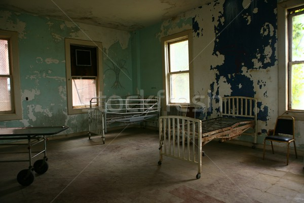 病院 建物 空っぽ 捨てられた 抽象的な ストックフォト © tobkatrina
