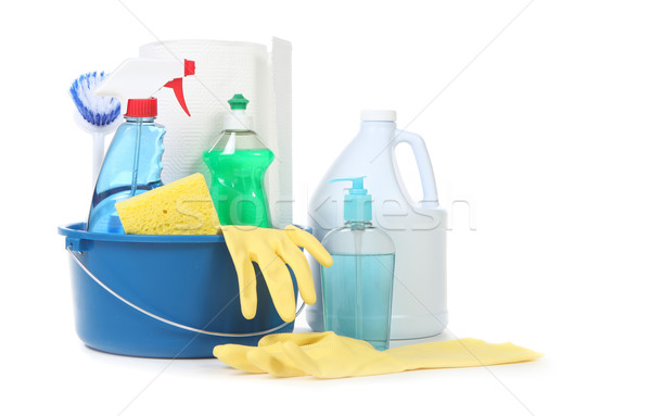 Many Useful Household Daily Cleaning Products Stock photo © tobkatrina