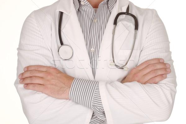 男性医師 着用 聴診器 白 医療 ストックフォト © tobkatrina