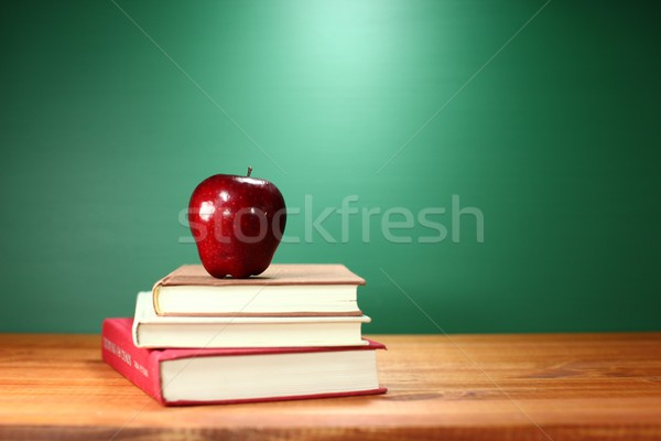 Green Back to School Themed Background Image Stock photo © tobkatrina