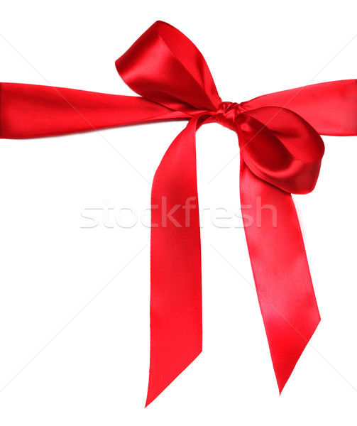 Beautiful Red Bow on White Stock photo © tobkatrina