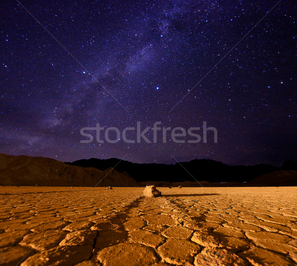 Beautiful Milky Way Formation in Death Valley California Stock photo © tobkatrina