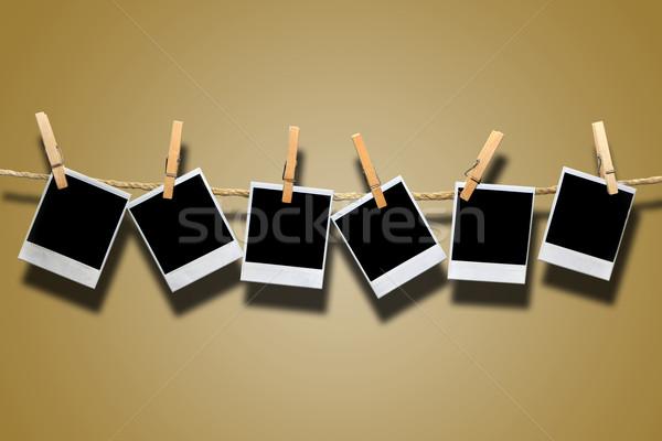 Instant Film Hanging on Rope Stock photo © tobkatrina